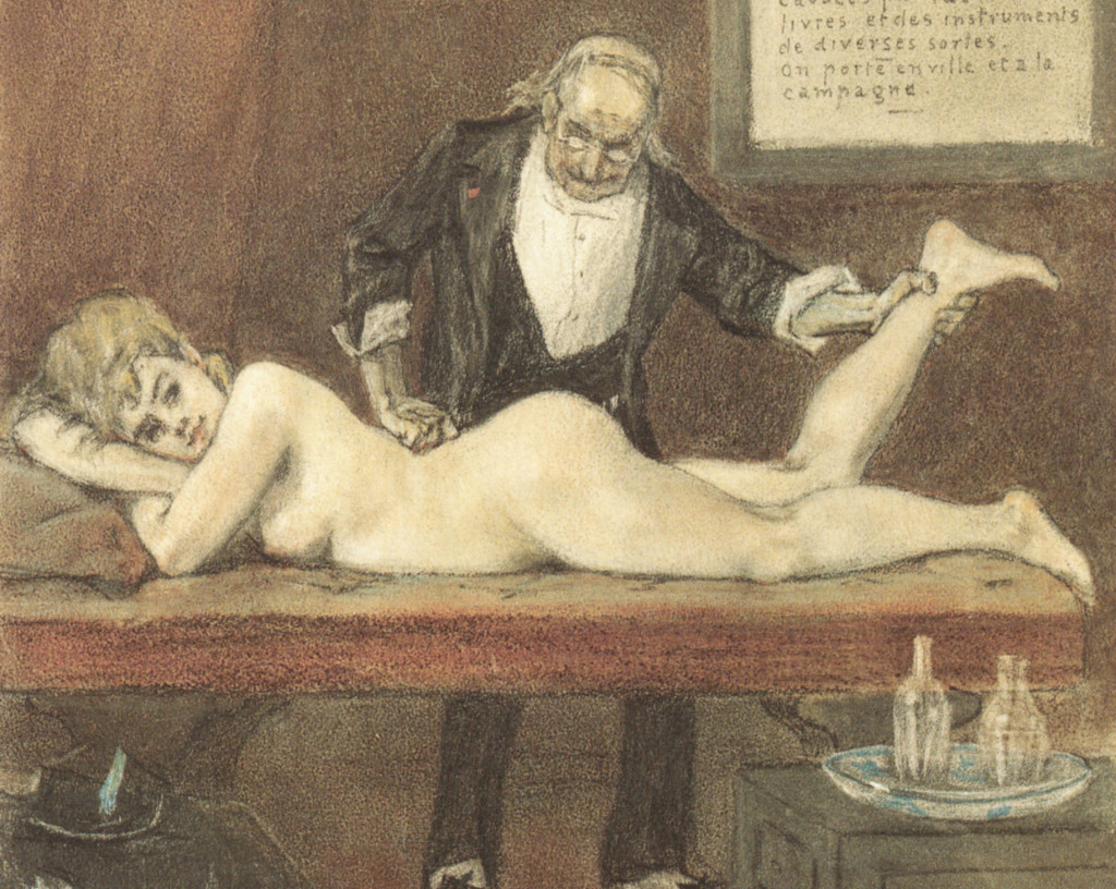 Detail from Félicien Rops - Le massage